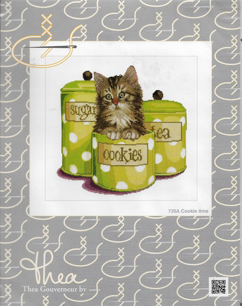 Thea Gouverneur Cookie Time cross stitch kit