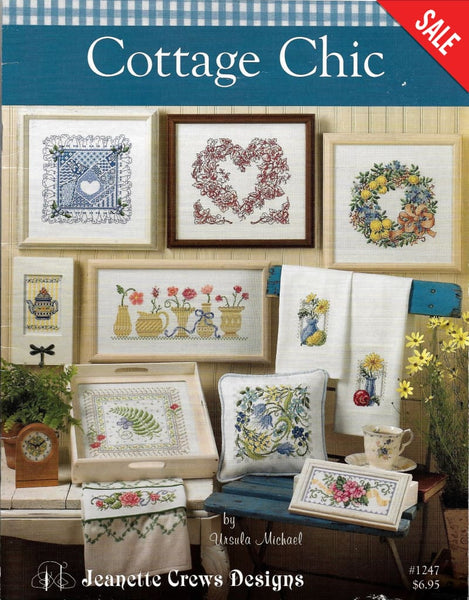 Jeanette Crews Cottage Chic flower cross stitch  pattern