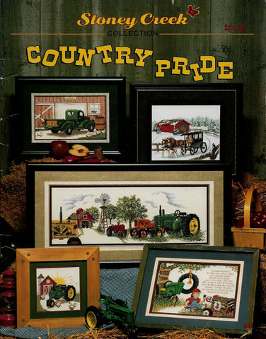 Stoney Creek Country Pride BK203 farm tractor cross stitch pattern