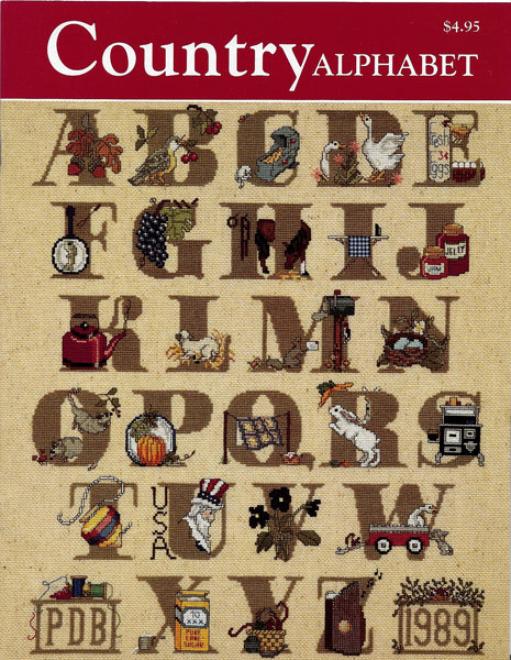 Just CrossStitch Country Alphabet cross stitch pattern