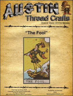 Austin Thread Crafts The Fool Tarot Card cross stitch pattern