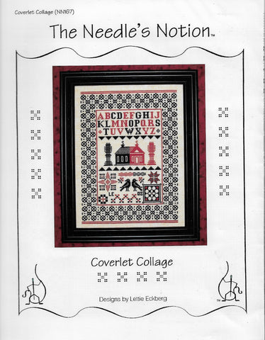 Needle's Notion Coverlet Collage NN167 cross stitch pattern