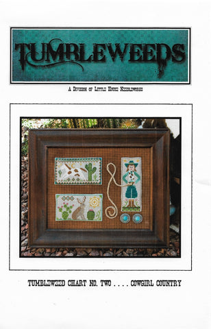Little House Needleworks Tumbleweed Cowgirl Country cross stitch pattern