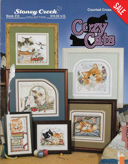Stoney Creek Cozy Cats BK410 cross stitch pattern