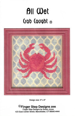 Finger Step Designs crab caught All Wet 1 cross stitch pattern