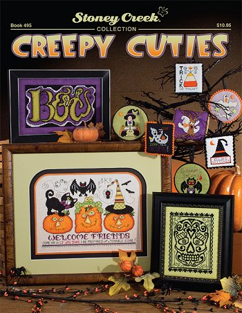 Stoney Creek Creepy Cuties BK495 Halloween cross stitch pattern