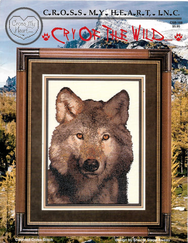 Cross My Heart Cry of the Wild CSB-168 wolf cross stitch pattern