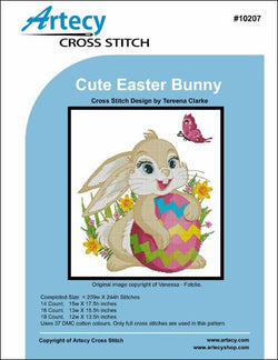 Artesy Cute Easter Bunny cross stitch pattern