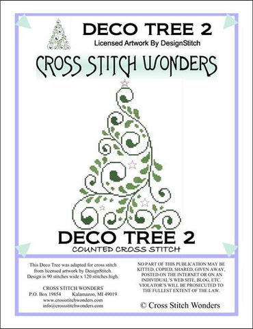 Cross Stitch Wonders Marcia Manning Deco Tree 2 Cross stitch pattern