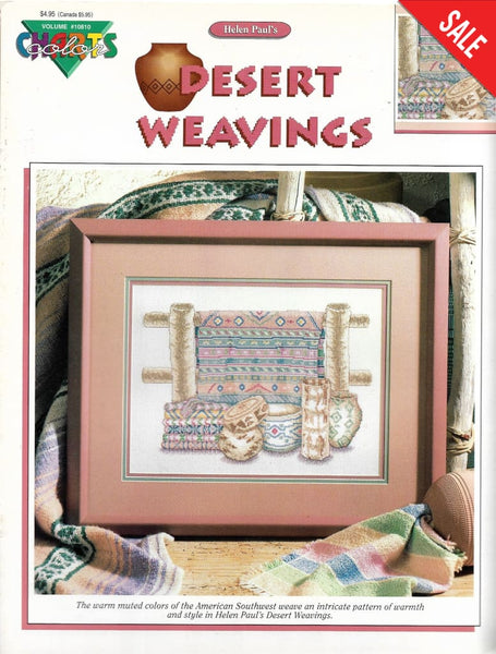 Color Charts Desert Weavings 10810 native american southwest cross stitch pattern