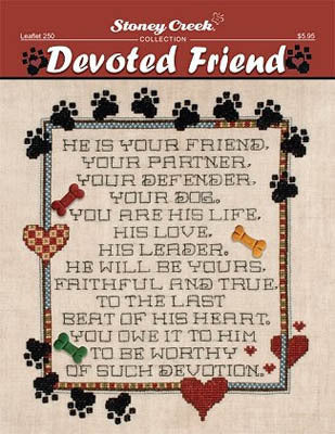 Stoney Creek Devoted Friend LFT250 pets dogs cats cross stitch booklet