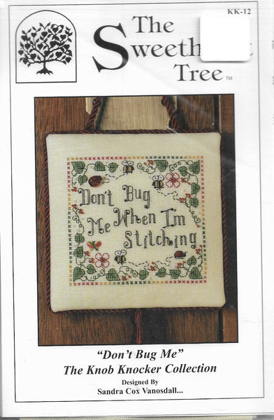 Sweetheart Tree Don't Bug Me cross stitch pattern