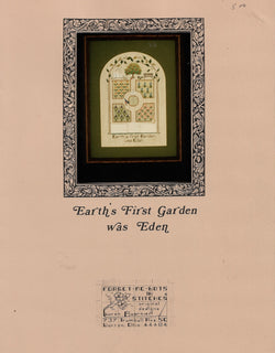 Forget-Me-Not Earth's First Garden was Eden cross stitch pattern