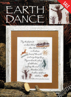 Leisure Arts Earth dance native american cross stitch pattern