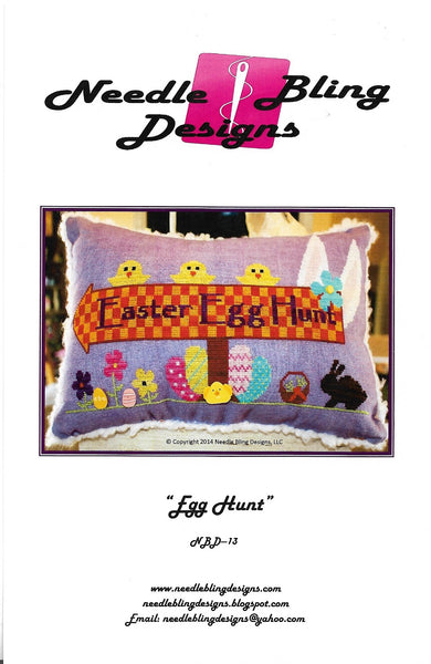 Needle Bling Designs Egg Hunt Easter cross stitch pattern