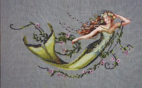 Mirabilia Emerald Mermaid Nora Corbett MD-77 cross stitch pattern
