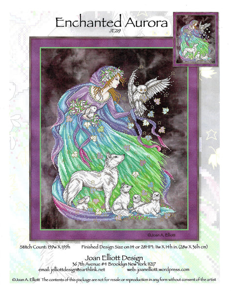 Joan Elliot Enchanted Aurora JE219 cross stitch pattern