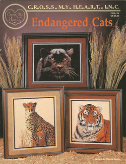 Cross My Heart Endangered Cats cross stitch patterns booklet