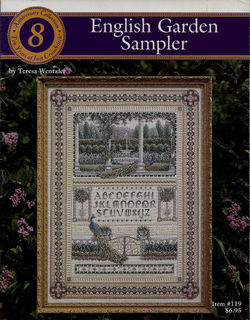 Just Cross Stitch English Garden Sampler Teresa Wentxler cross stitch sampler pattern