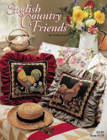 Just CrossStitch English Country Friends Rooster and Hen cross stitch pattern