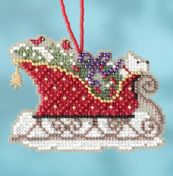 Mill Hill Evergreen Sleigh Christmas beaded kit MH16-1734