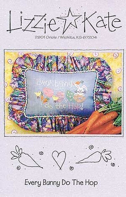 Lizzie Kate Every Bunny do the hop LK049 Easter cross stitch pattern