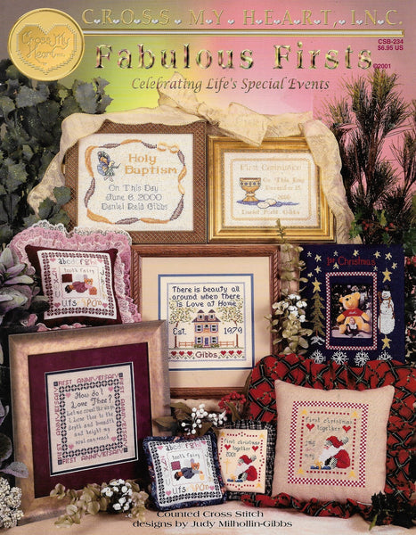 Cross My Heart Fabulous Firsts cross stitch pattern