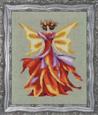 Mirabilia Faerie Autumn Glow NC203 victorian fairy cross stitch