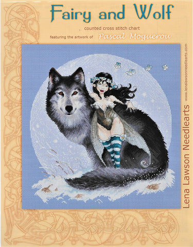 Lena Lawson Fairy and Wolf by Pascal Moguerou cross stitch pattern