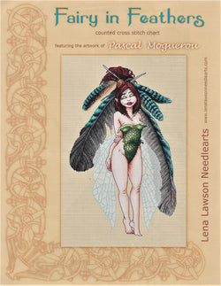 Lena Lawson Fairy in Feathers by Pascal Moguerou cross stitch pattern