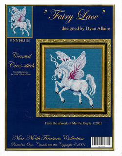 Kustom Kraft Fairy Lace NNT-031B Pegasus cross stitch pattern