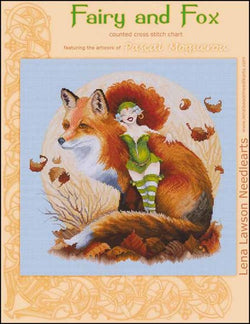 lena lawson Fairy and Fox PascalMoguerou cross stitch pattern