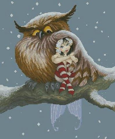Lena Lawson Fairy and owl cross stitch pattern