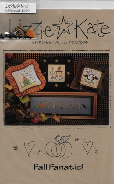 Lizzie Kate Fall Fanatic! LK056 cross stitch pattern