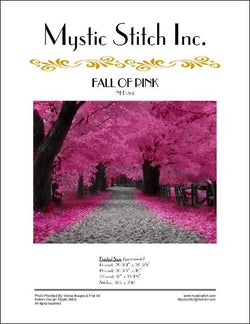 Mystic stitch Fall of Pink cross stitch pattern