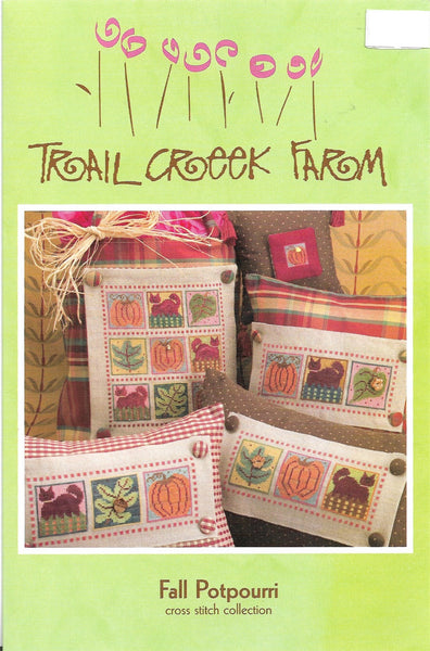 Trail Creek farm Fall Potpourri cross stitch pattern