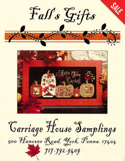 carriage House Samplings Fall's Gifts cross stitch pattern