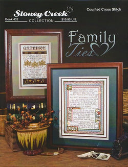 Stoney Creek Family Ties BK432 cross stitch booklet