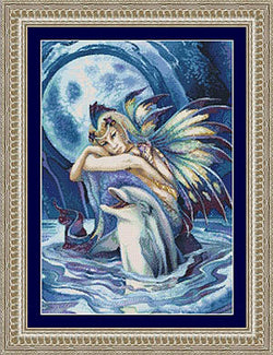 Kustom Krafts Fantasea Dolphin Fairy JB-006 cross stitch pattern