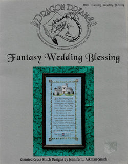 Dragon Dreams Fantasy Wedding Blessing cross stitch pattern