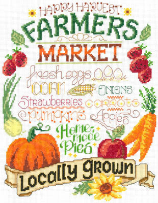 Imaginating Farm Fresh 3161 cross stitch pattern