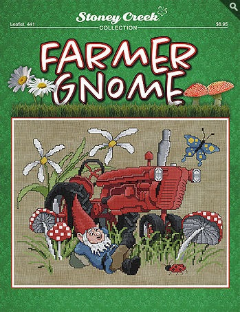 Stoney Creek Farmer Gnome LFT441 cross stitch pattern