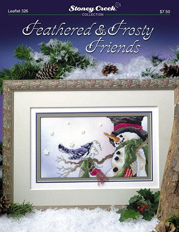 Stoney Creek Feathered and Frosty friends pattern LFT326 cross stitch pattern