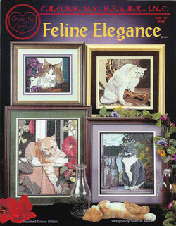 Cross My Heart Feline Elegance CSB-147 cats cross stitch pattern