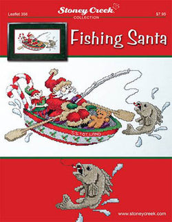 Stoney Creek Fishing Santa Christmas LFT356 cross stitch booklet