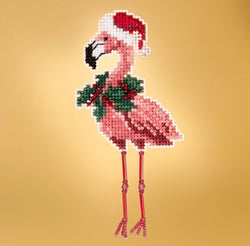 Mill Hill Holiday Flamingo beaded cross stitch kit