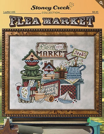 Stoney Creek Flea Market LFT435 cross stitch booklet