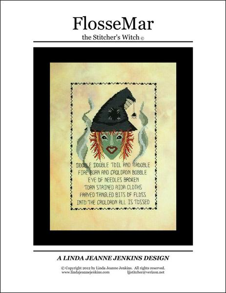 Linda Jeanne Jenkins Design FlosseMar The Stitcher's Witch cross stitch pattern