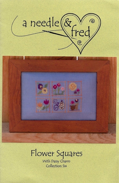 A Needle & Fred Flower Squares cross stitch pattern