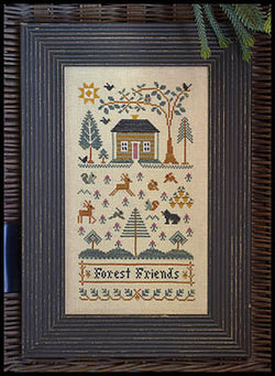 Little House Needleworks Forest Friends LHN151 cross stitch pattern